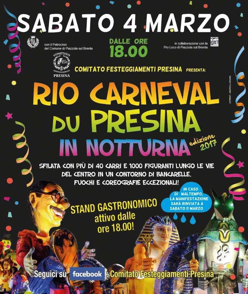 Rio carneval du presina 2017 propiazzola for Fiera piazzola sul brenta 2017