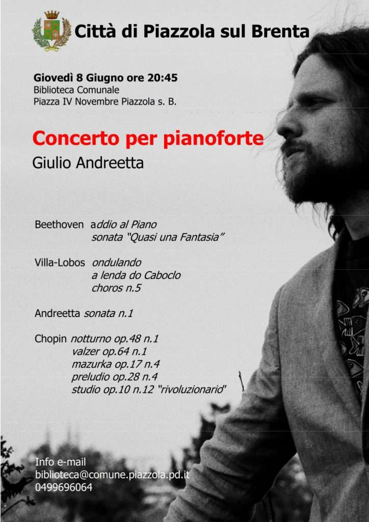 Concerto per pianoforte propiazzola for Fiera piazzola sul brenta 2017