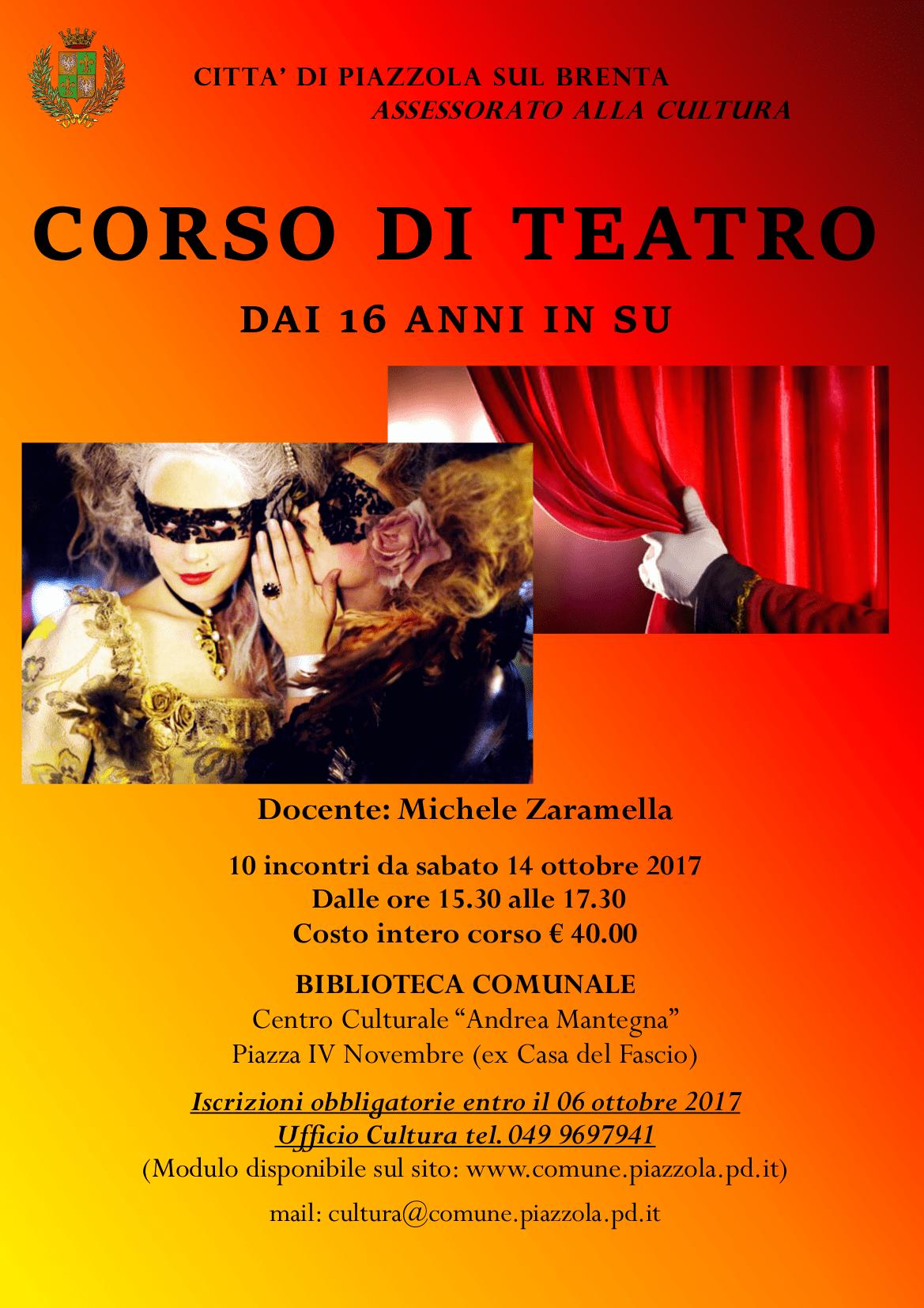 Corso di teatro propiazzola for Fiera piazzola sul brenta 2017