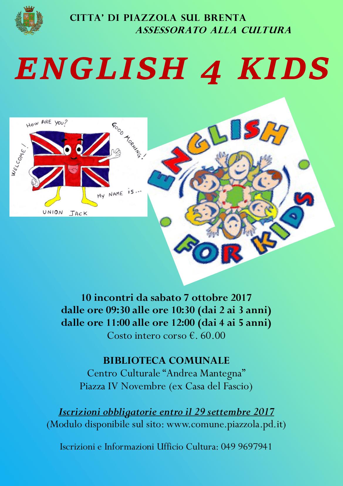 Inglese per bambini propiazzola for Fiera piazzola sul brenta 2017