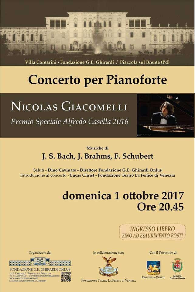 Locandina concerto per pianoforte