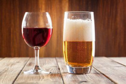 Immagine vino e birra