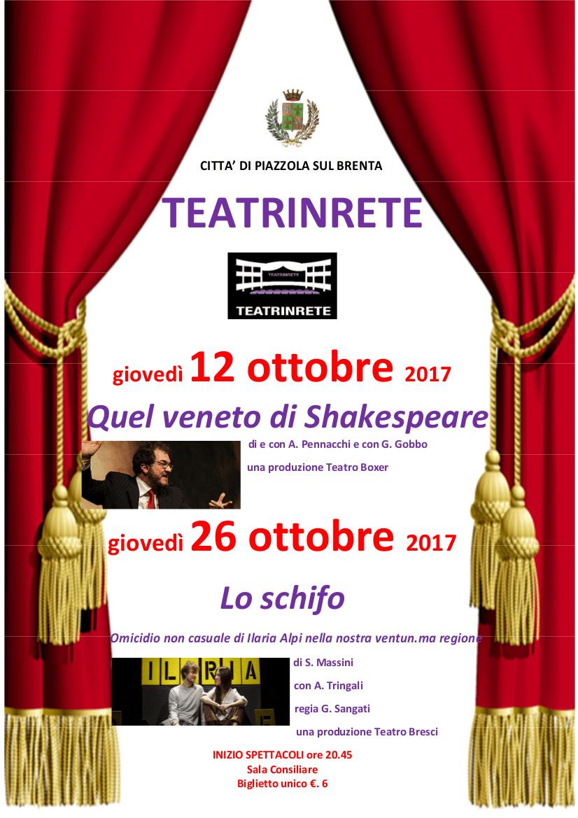 Immagine locandina teatro in rete
