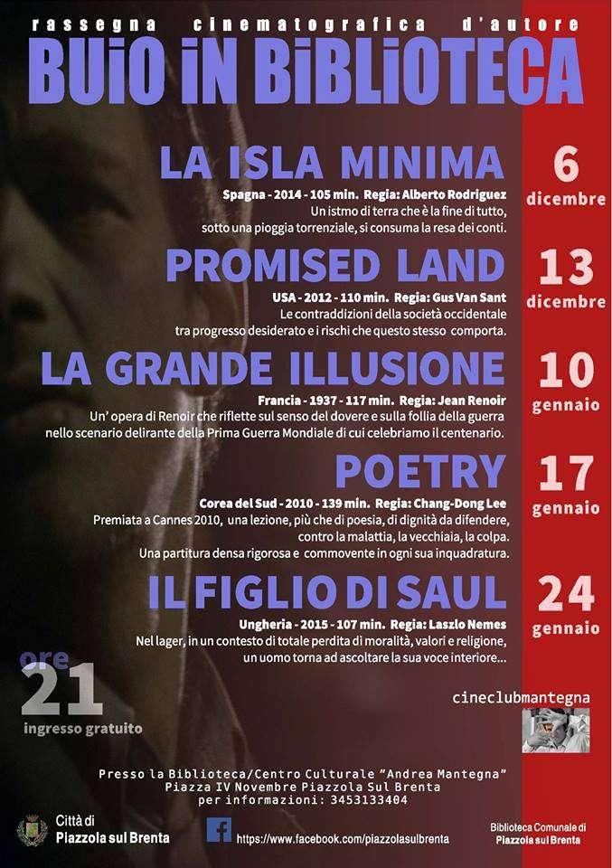 Buio in biblioteca promised land propiazzola for Fiera piazzola sul brenta 2017