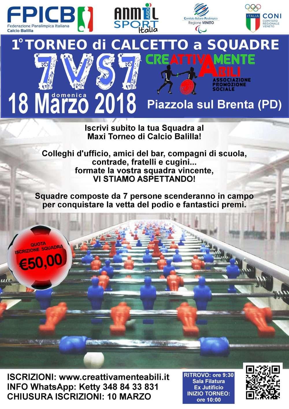 Immagine torneo maxi calcio balilla