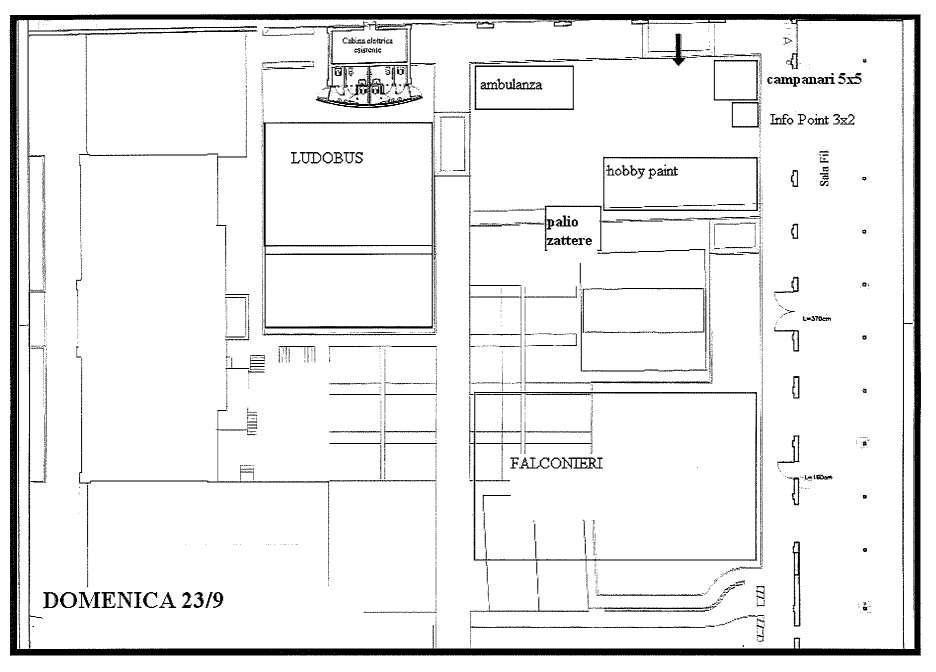 Mappa evento esterno domenica 23