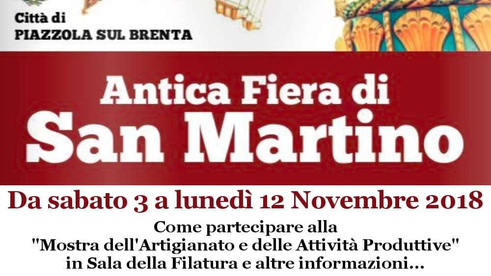 Partecipazione Fiera di San Martino 2018
