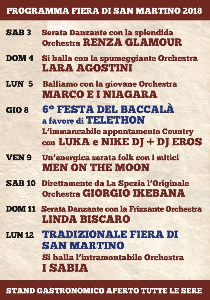 Programma orchestre San Martino 2018