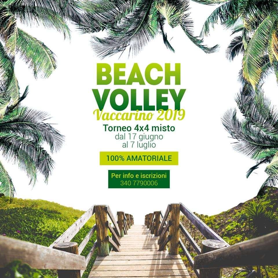 torneo di beach-volley a Vaccarino