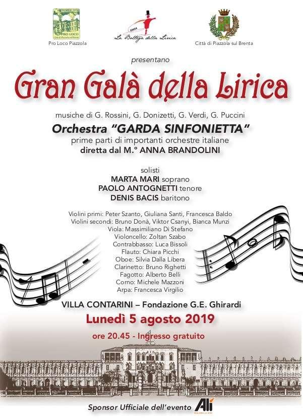 Gran Gala Della Lirica Pro Loco Piazzola A P S