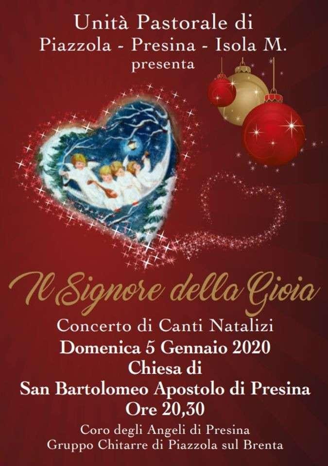 locandina concerto a Presina