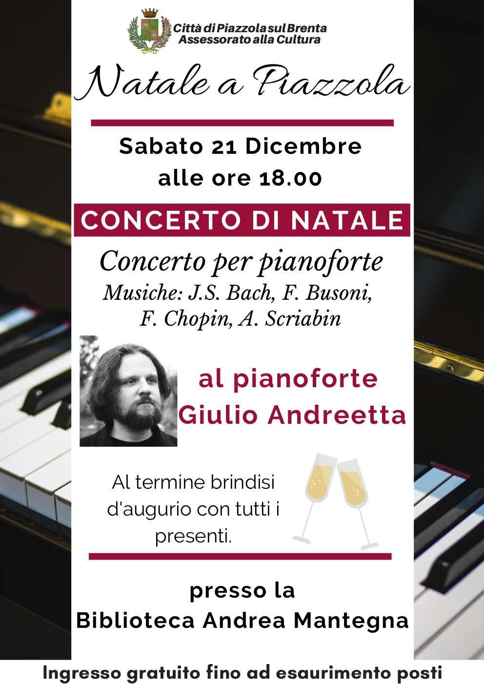 Concerto per pianoforte Musiche: J.S. Bach, F. Busoni, F. Chopin, A. Scriabin
