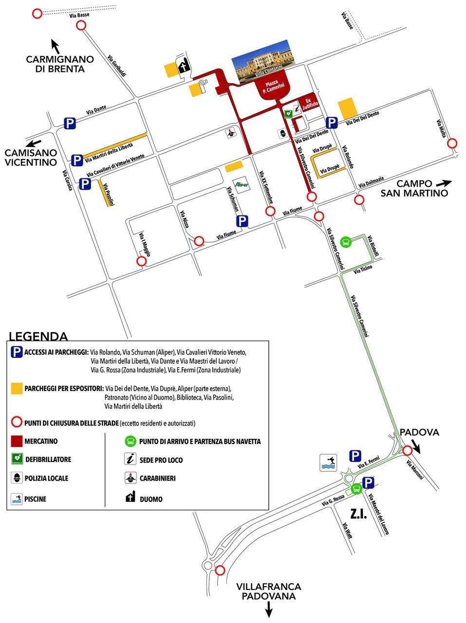 Mappa Piazzola 2020