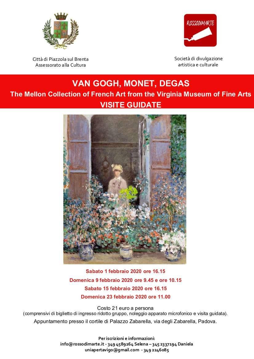 Visite guidate a mostra Van Gogh, Monet e Degas - locandina