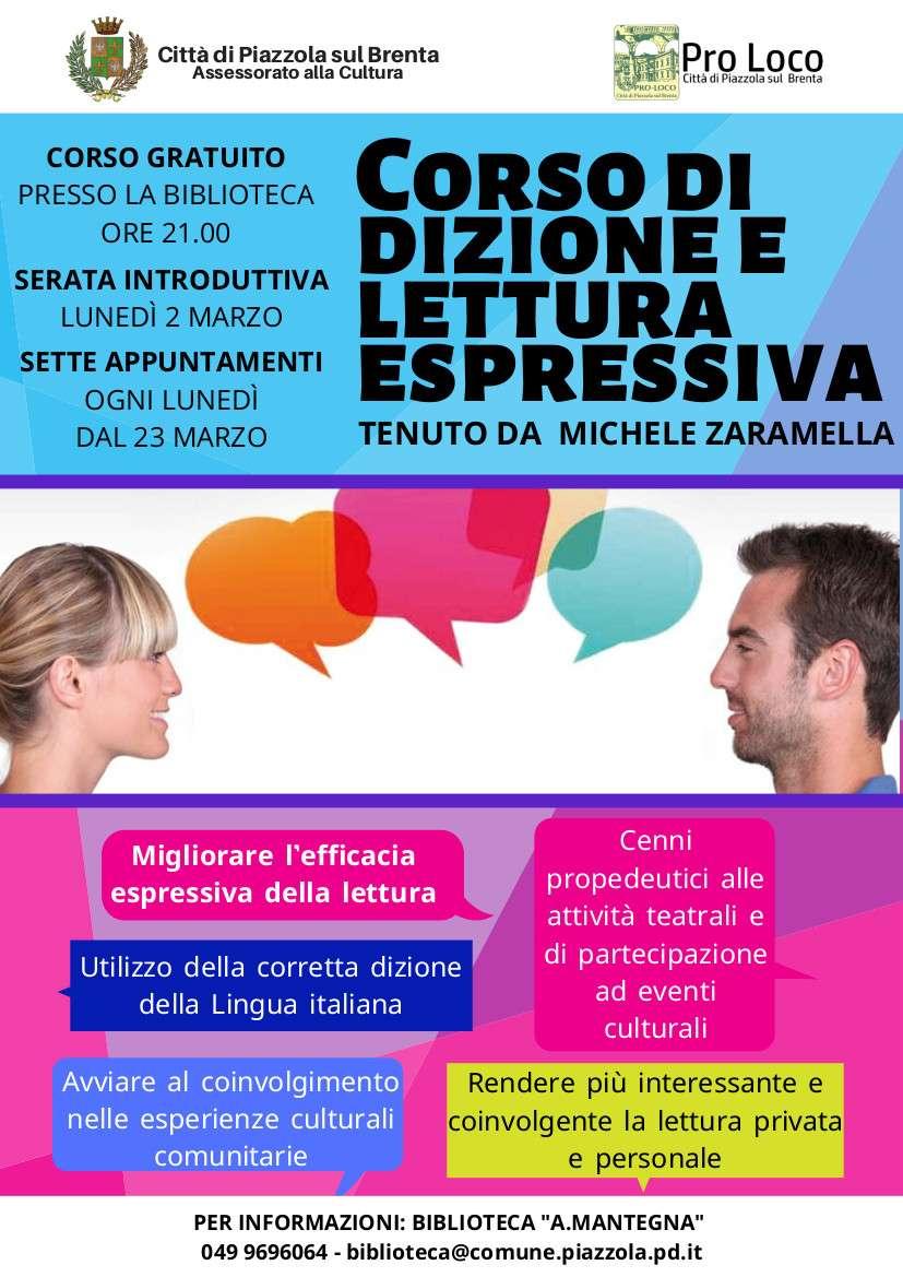 locandina: Corso di dizione e lettura espressiva