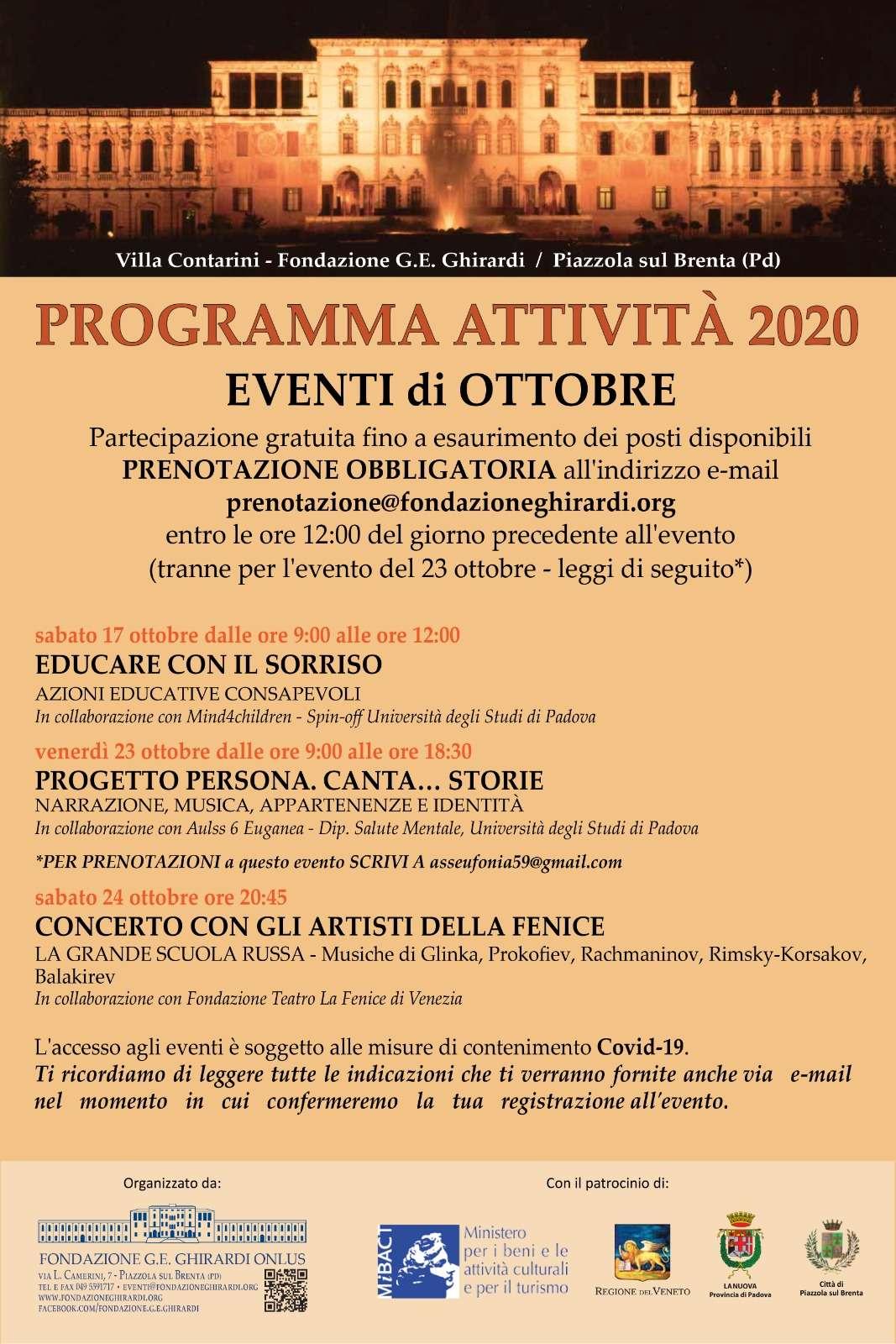 programma attività 2020
