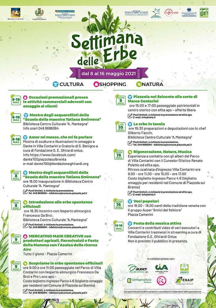 Programma settimana delle erbe