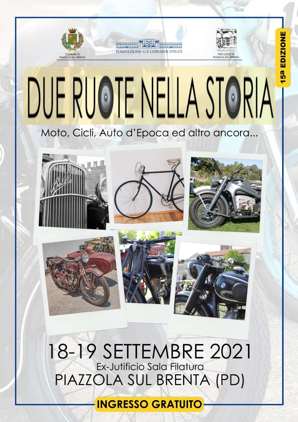 Locandina due ruote nella storia 2021
