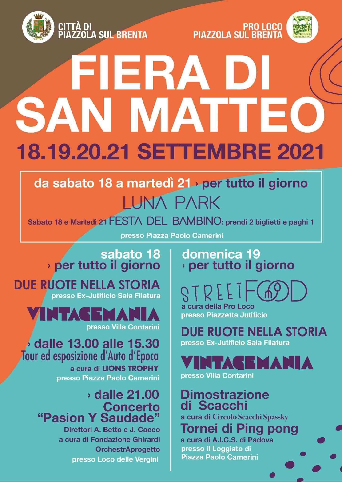 San Matteo 2021